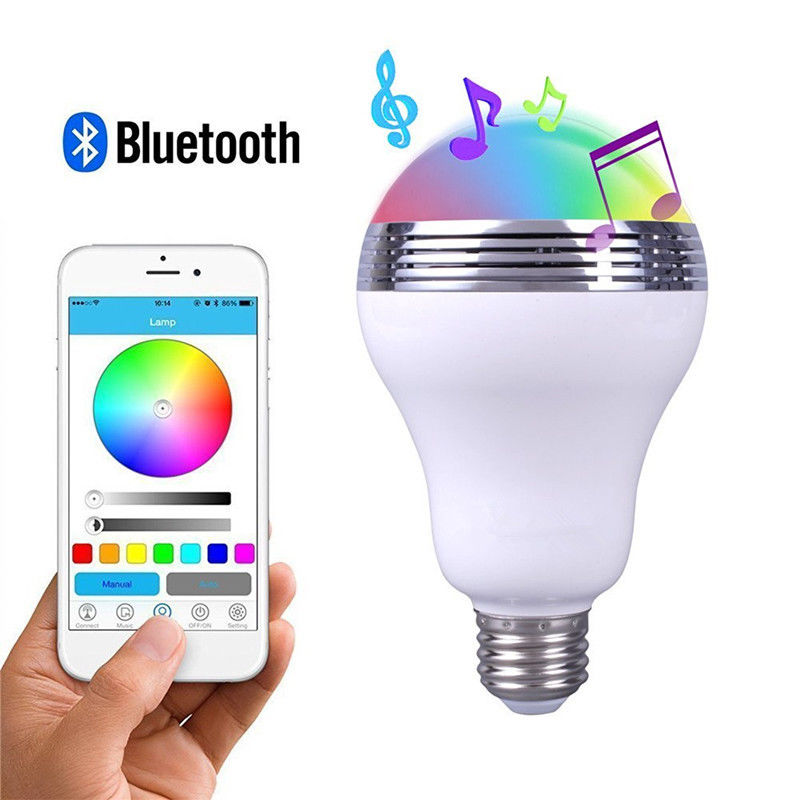 smart ampoule led enceinte connect e bluetooth cyber express electronics. Black Bedroom Furniture Sets. Home Design Ideas